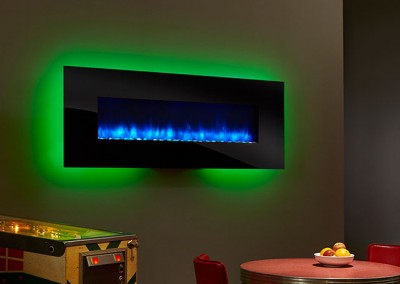 SimpliFire WallMount 70 BlueFlame GreenLight