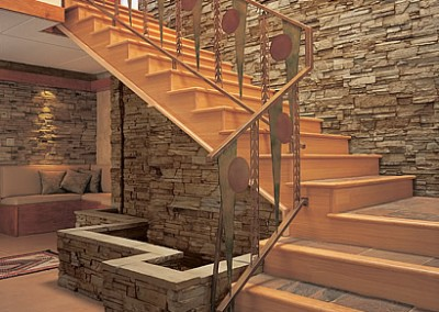 autumn profit ledge stone stairs
