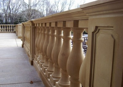 Cast stone baluster