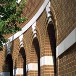 Brick arch columns