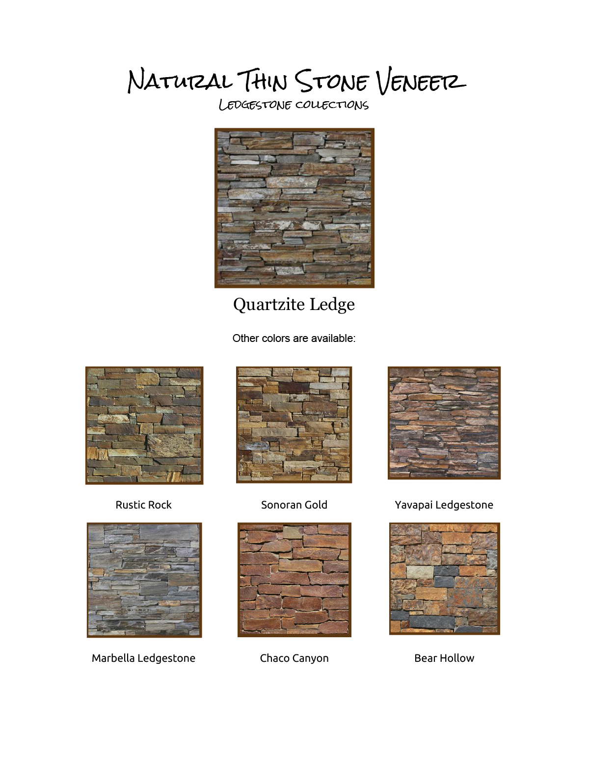 Natural Thin Stone Veneers